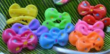 60 Pcs/lot Kids Baby Plastic Girls Hairpins Mini Claw Hair Clips Clamp Flower