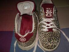 WAU Zapatillas pelo leopardo lince tigre Burdeos EU 38 - UK 5 Weareunited