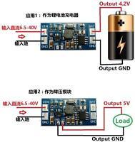 dc buck charging Converter module DC 6.5-40V 12v 24v to 4.2V 5v Battery Charger