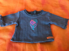 American Girl Brown Paisley Outfit Long Sleeve Top Shirt For Doll Only