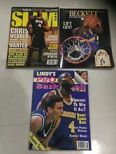 Chris Webber 3 Basketball Magazine Lot (Slam, Beckett & Lindy's) Back Issues