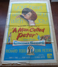 A Man Called Peter Movie Poster, Original, Folded, One Sheet, year 1955, U.S.A.