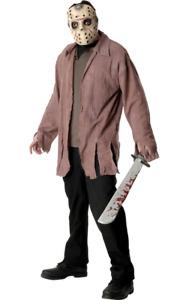 Mens Jason Voorhees Halloween Horror Film Fancy Dress Costume