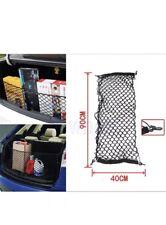 Auto Baule Elastico Rete Bagaglio Portaoggetti Organizzatore Cofano 90x40cm CM