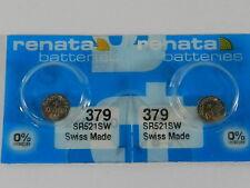 Renata 379 SR521SW Batteries Button Cell ,2 Pc