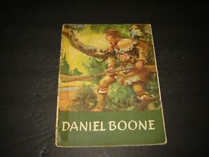 Daniel Boone (Real People) illustrated softcover 1950 by Jeannette Nolan