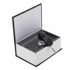 Book Safe Lock Secret Hidden Cash Money Box Jewellery Security, Black