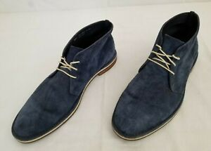 Mens Size 12M Blue Cole Haan Suede Leather Ankle Chukka Boots C09913 preowned