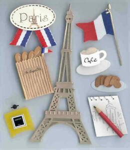 Paris Sticker Set - Jolee's Boutique - Destination - Sticker Collage