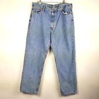 Levis 550 Men's Jeans Size 42 x 32 Blue Denim Straight Leg Pants Work