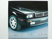 PROSPEKT MASERATI 430/430 4v. 2,8 L, 1992, 8 pagg., tedesco/inglese/francese