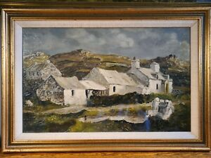 """FABULOUS OIL ON BOARD """"FARM COTTAGE SNOWDONIA"""" INSPIRED BY SIR KYFFIN WILLIAMS"""