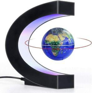 LED Anti Gravity Magnetic Globe Table Bedside Desk Lamp Map Floating Levitation