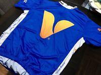 Men's Verge The Vitamin Shoppe Bicycle Club Cycling Jersey Bib XXL 3/4 Zip Blue