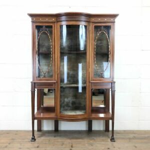 Antique Glazed Display Cabinet - (M-2334) FREE DELIVERY*