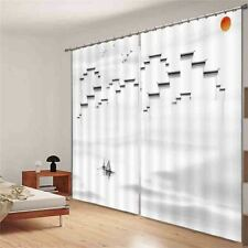 Heavy High Low Walls 3D Curtain Blockout Photo Printing Curtains Drape Fabric