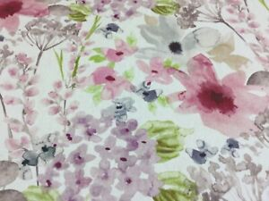 Fryetts Felicity Pink Floral Cotton Fabric for Curtain/ Blinds/Upholstery/Craft