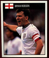 BRYAN Robson Inghilterra #48 Orbis World Cup Football Adesivo 1990 (c234)