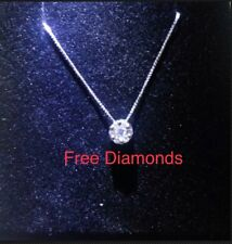 Necklace White Gold 18 Carats With Light Spot Mod. Magic 0,30ct Offer - Collier