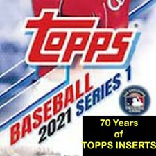 2021 Topps Series 1 - 70 Years of Topps Baseball Inserts - You Pick