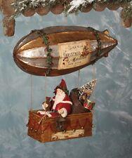 Santa's Dirigible Christmas Hot Air Balloon w Bag of Toys - Bethany Lowe TD5074