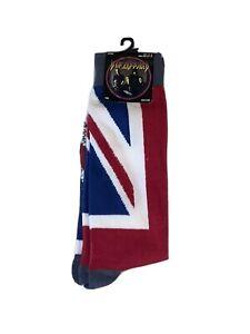 Def Leppard Crew Socks 10-13 Pyromania Union Jack