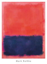 Untitled, 1960-61 by Mark Rothko Art Print - Abstract Poster Blue Red 35x26