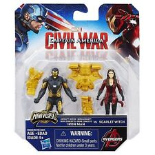IRON MAN & SCARLET WITCH (CAPTAIN AMERICA CIVIL WAR) MARVEL MOVIE ACTION FIGURES