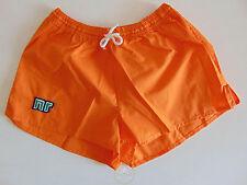 Vintage 80 ENNERRE Pantaloncini XL Arancio 6° Calcio Shorts Glanz Soccer NOS