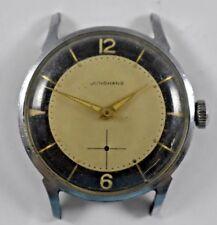 Vintage Junghans 2 Tone Dial Hand Wind Mechanic J93S Mens Wrist Watch lot.g