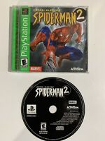 Spider-Man 2 -Enter: Electro (Sony PlayStation 1, 2001) Tested Light Scratching