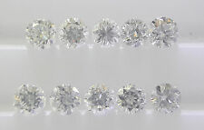 1.4mm 10pc 0.14cts Total G Color Natural Loose Brilliant Diamond VS-SI Clarity