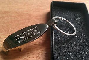 Personalised Bottle Opener Keyring/Keychain Engraved Christmas Birthday Gift