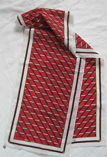 -Authentique    Echarpe  TRUSSARDI   polyester TBEG  vintage Scarf