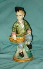 Antique Ceramic Man and Basket Statue Figurine Marked Numbered