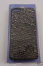 for Iphone 5 phone case back cover bling graphite black color