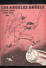 1962 Los Angeles Angels Official Score Card Game Scored Angles vs Twins