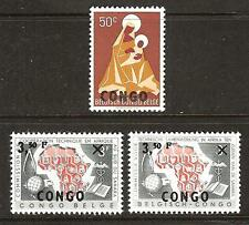 CONGO # 353-55 MNH TECHNICAL COMMISSION & MADONNA and CHILD
