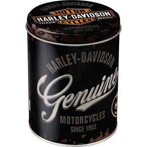 Vintage Harley Davidson BAR & Scudo Lattina Stagno Box Latta Teschio