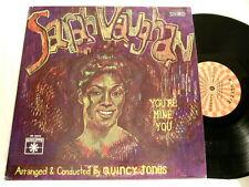 SARAH VAUGHAN You're Mine You Quincy Jones Roulette LP