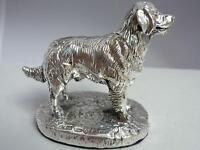 Stunning Hallmarked Sterling Silver Golden Retriever Dog Statue