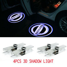 4Pcs LED Car Door Welcome Laser Projector Courtesy Ghost Shadow Light For Nissan