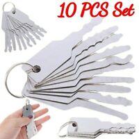 10PCS Durable Jiggler Keys Dual Sided Car Unlocking Lock Opening Repair tool Kit