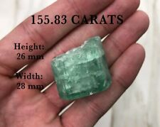 155.83 Carats Big Natural Rough Terminal Colombian Emerald Perfect Imperfection