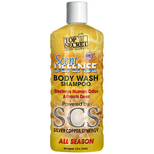 Top Secret Scent Defense Body Wash and Shampoo 12 oz.