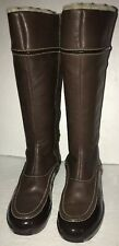 Cole Haan NIKEAIR Leather & Patent Leather Waterproof Zip Boots sz.7.5 B