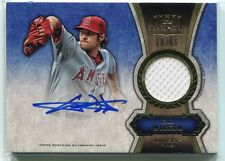 2012 Topps Five Star Relic Autographs Gold CW C. J. Wilson Jersey Auto 18/55