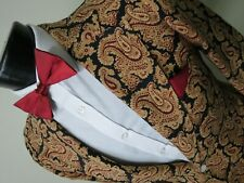 Rare Norman Hilton VTG 1973 full Paisley silk? smoking dinner tuxedo jacket 40 R
