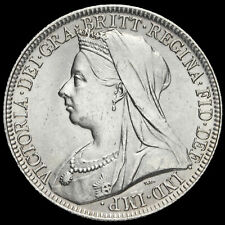 More details for 1901 queen victoria veiled head silver florin, unc