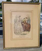 Antique Le Follet Fashion Print